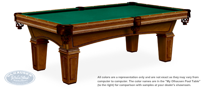 Santa Ana Pool Table With Augusta Leg Style By Olhausen Billiards